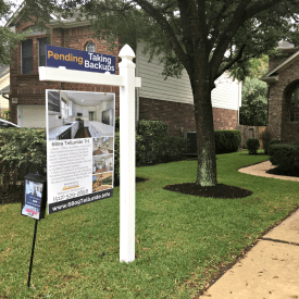 custom real estate sign austin