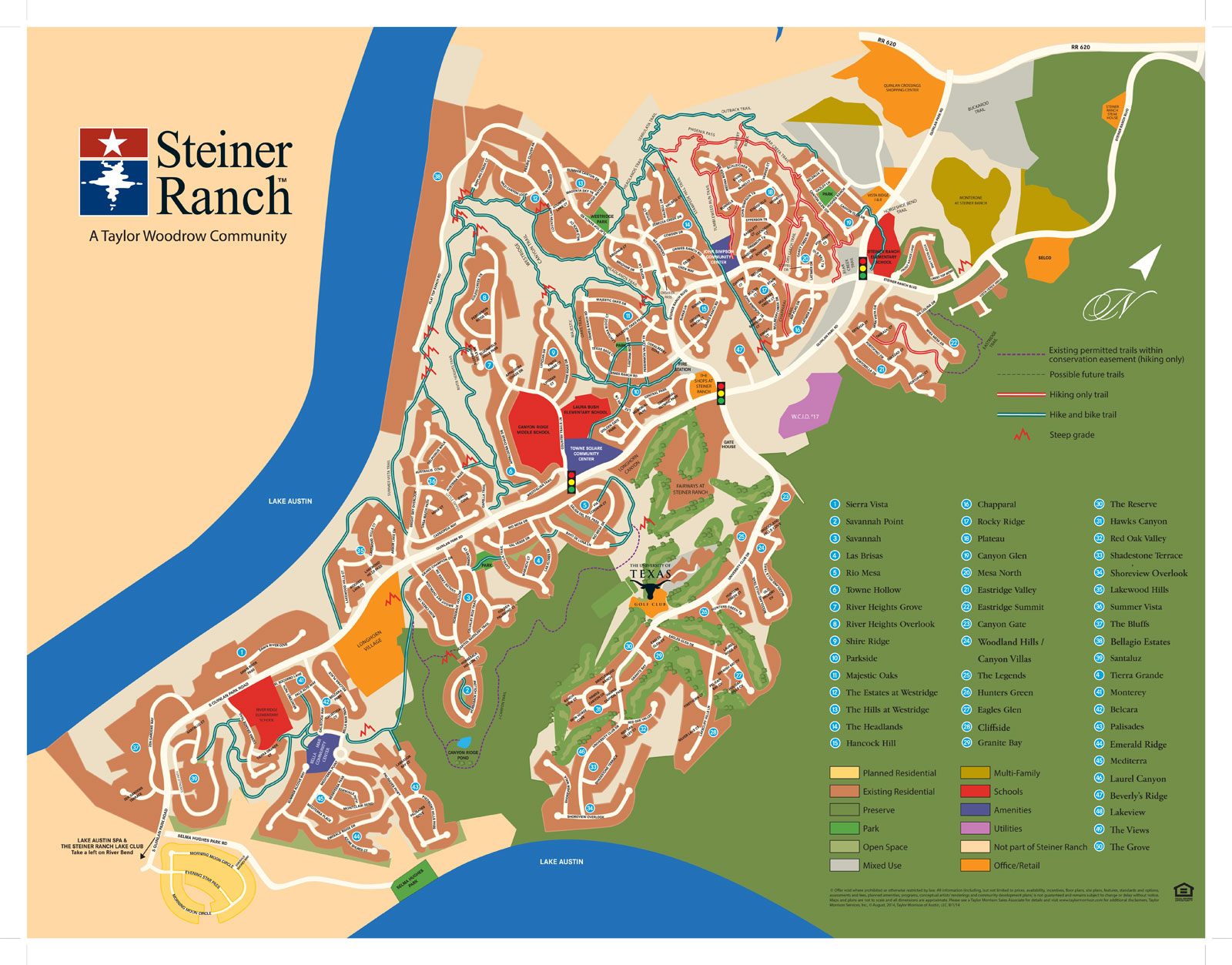 steiner ranch community map