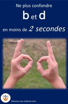 exercice simple pour éviter la confusion des lettres b et d