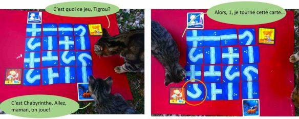 jeu tactique enfant avec des chats et des chatons