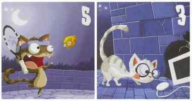jeu de société tactique pour enfants avec des chats - cadeau