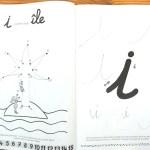 activités lettres Montessori cahier