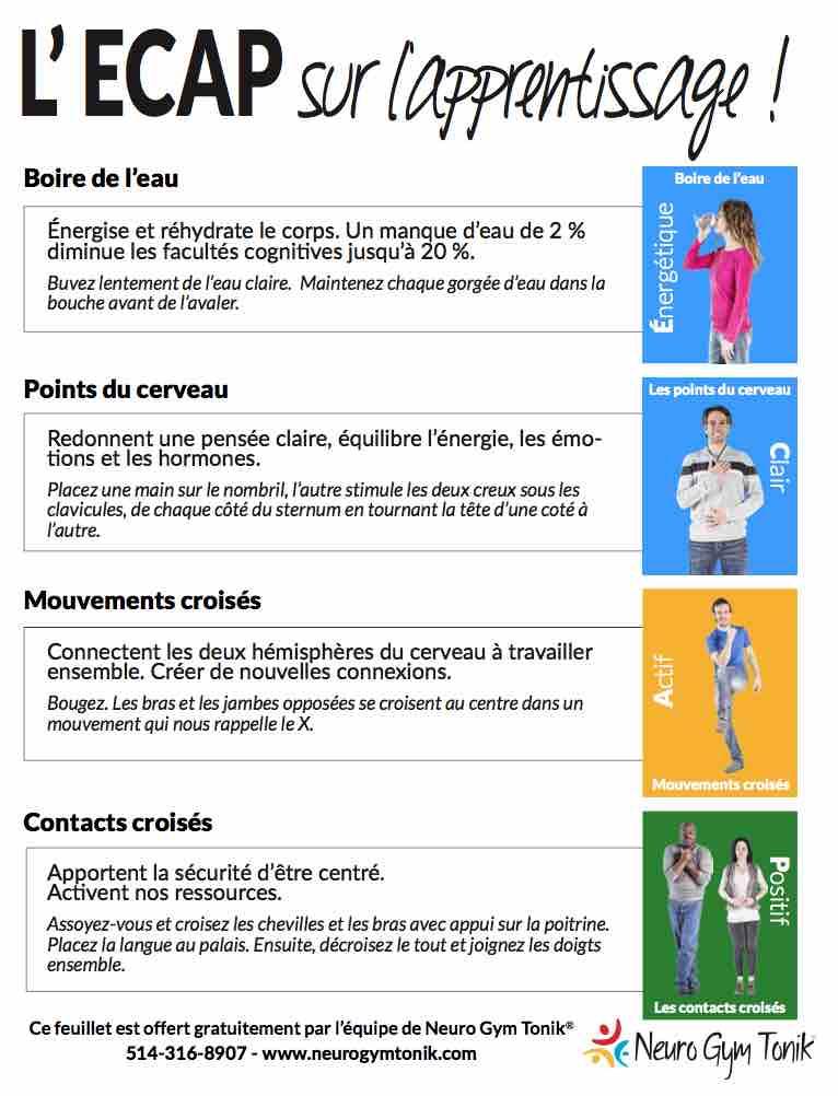 Concentration Et Brain Gym Exemples De Mouvements Elevons Nos Enfants