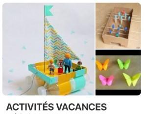 trouver des activités enfants sur Pinterest