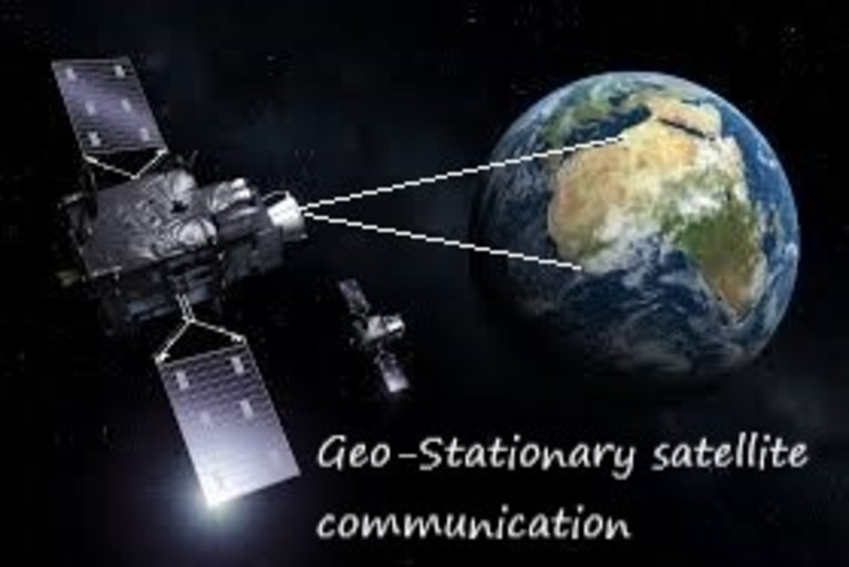 Geo-Stationary satellite in earth orbit
