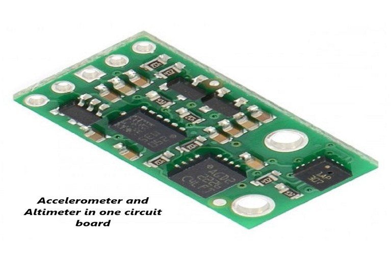 Integrated chip of accelerometer and altimeter