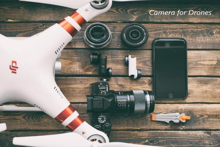 Camera in drone
