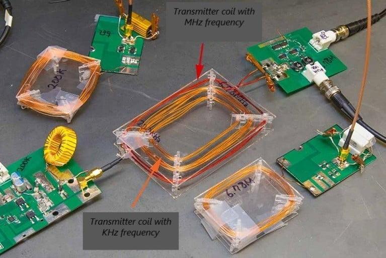 Internal circuitry of wireless charging