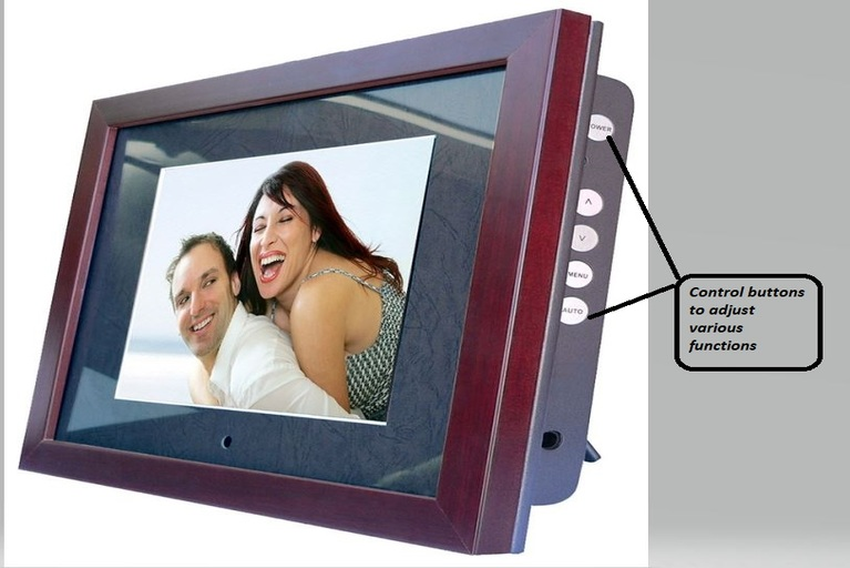 Control buttons in digital photo frame