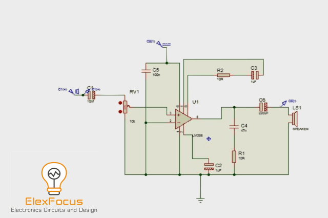 Prime Lm386 Audio Amplifier Circuit With Proteus Simulation Elex Focus Wiring Cloud Philuggs Outletorg