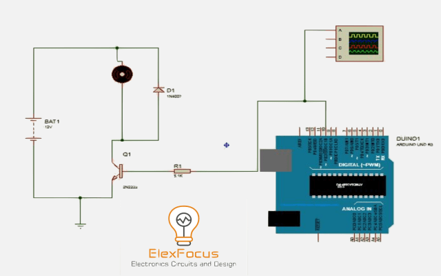 Speed Control of DC Motor using Arduino applying PWM  | Elex