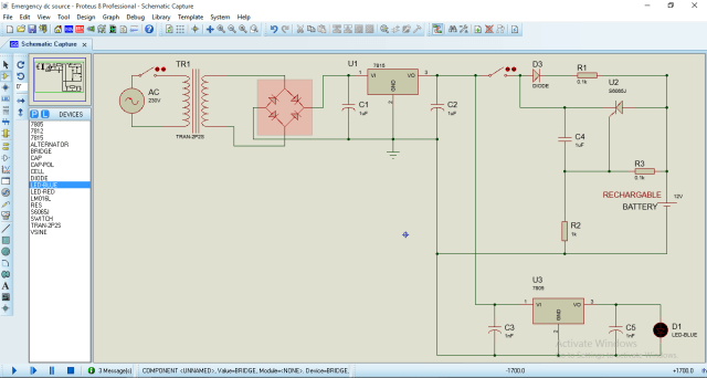 Circuit Diagram: Battery Backup