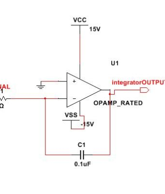 Opamp as an integrator