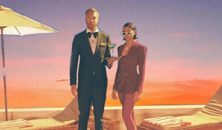 ¡A lo ochentero! Calvin Harris y Dua Lipa estrenan videoclip de One Kiss