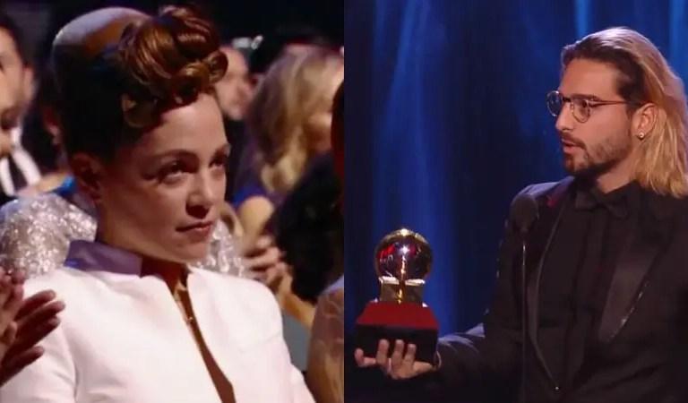 Natalia Lafourcade habló de su polémica cara cuando Maluma ganó el Grammy ?
