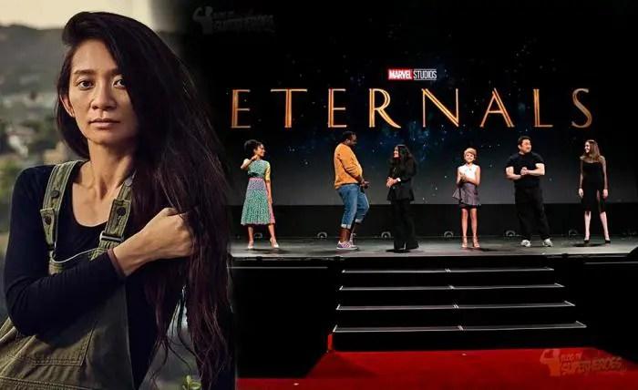 Mientras Chloé Zhaoespera su Óscar, también está trabajando en «Eternals»