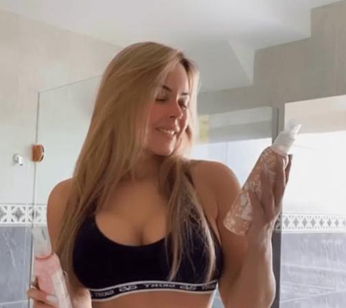 En la ducha y desnuda: Roxana Díaz publicó video en Instagram que dejó a todos con la boca abierta