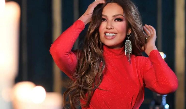 «Siempre a la vanguardia»: Thalía dejó en evidencia que Kim Kardashian le copió un look
