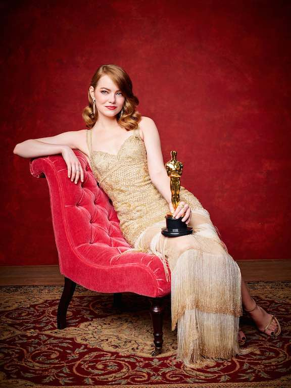 "Emma Stone poses backstage with the Oscar® for Performance by an actress in a leading role, for work on ""La La Land"" during the live ABC Telecast of The 89th Oscars® at the Dolby® Theatre in Hollywood, CA on Sunday, February 26, 2016."