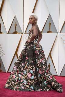 Cynthia Erivo arrives on the red carpet at The 89th Oscars® at the Dolby® Theatre in Hollywood, CA on Sunday, February 26, 2017.