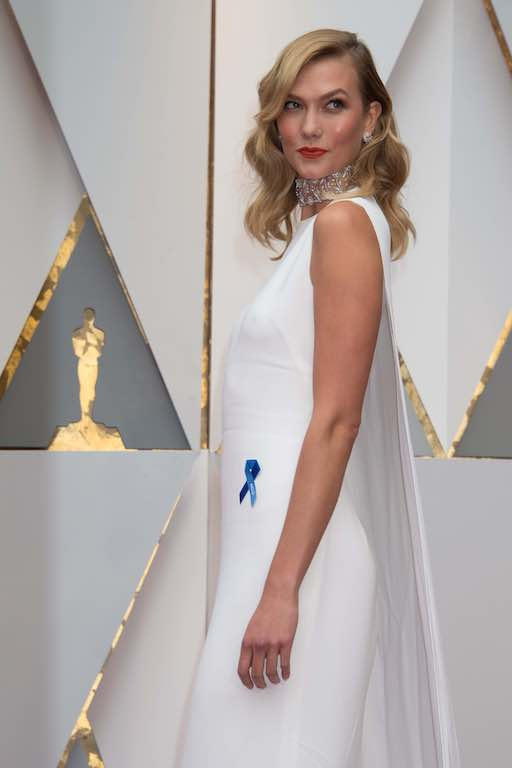 Karlie Kloss arrives on the red carpet of The 89th Oscars® at the Dolby® Theatre in Hollywood, CA on Sunday, February 26, 2017.