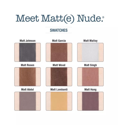 theBalm Eyeshadow Palette Meet Matt(e) Nude