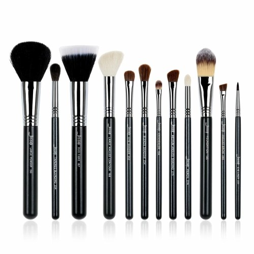 Jessup Pro Brushes Set Black Silver T129