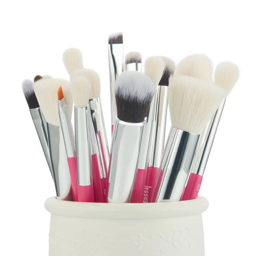 Jessup Individual Brushes Set Rose Carmine Silver T205