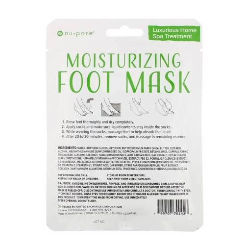 Nu-Pore, Moisturizing Foot Mask