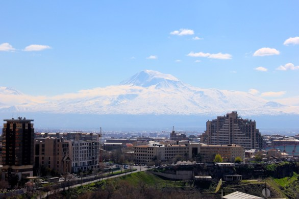 Yerevan (and Mt. Ararat) in the morning