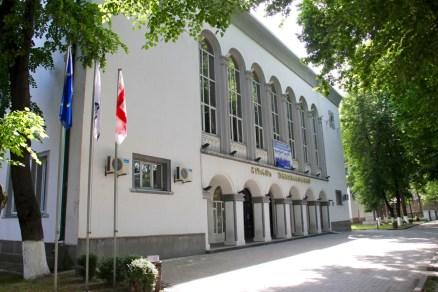 Gori University in the spring