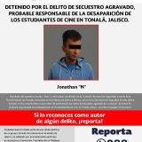Detienen en Metepec a implicado en desaparición de tres estudiantes
