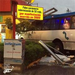 Piden camioneros indemnización de 50 mdp… ¡por manifestación ocurrida en 2009!