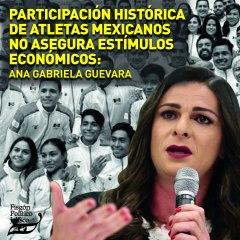 Participación histórica de atletas mexicanos no asegura estímulos económicos: Ana Gabriela Guevara
