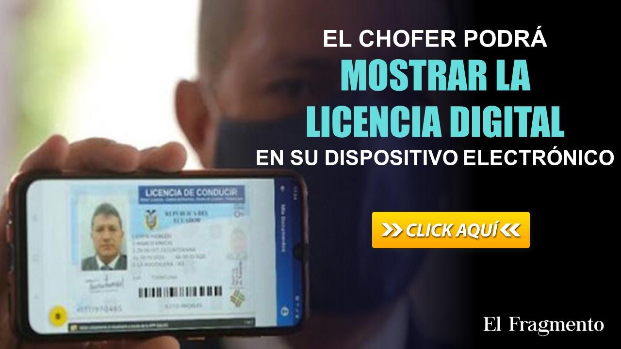El chofer podrá mostrar la licencia digital en su dispositivo electrónico