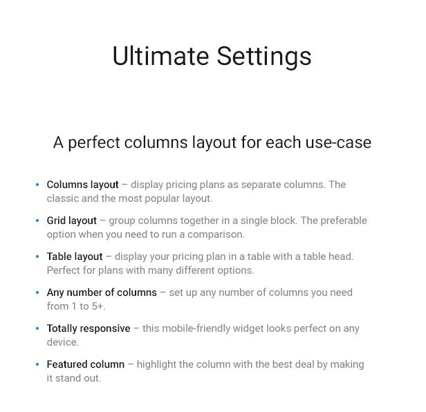 WordPress Pricing Table Plugin 2