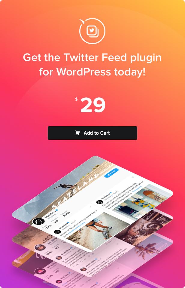 Twitter feed-WordPress plugin Twitter-4