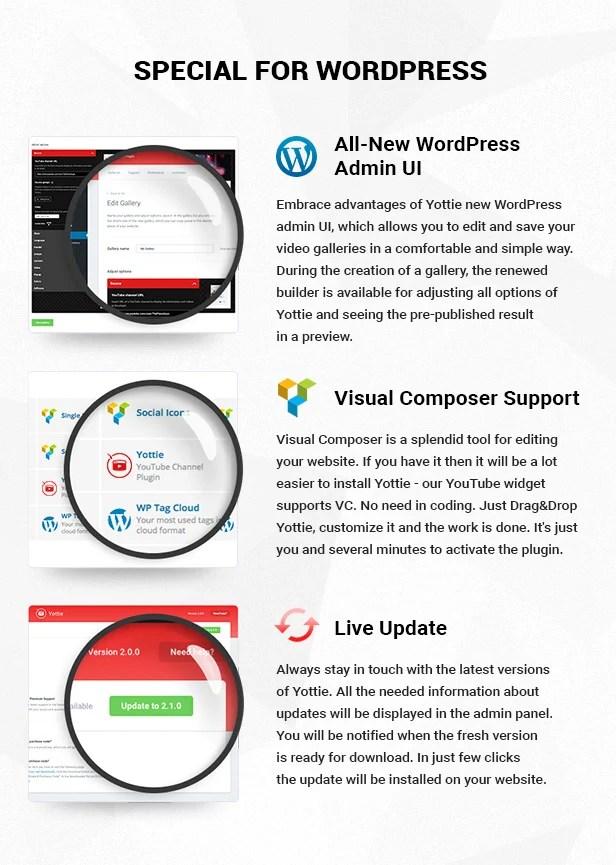 Yottie YouTube Widget para WordPress