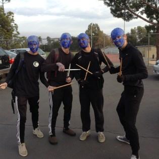 Blue Man Group sticks together