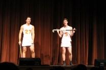 The Schunks get into field hockey uniform.