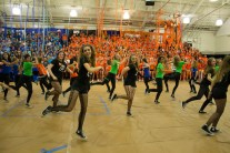 The dance team showing their skills.