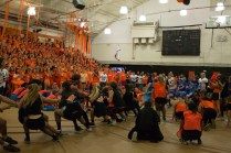 """Seniors losing to the Sophomores in """"Tug of War."""""""