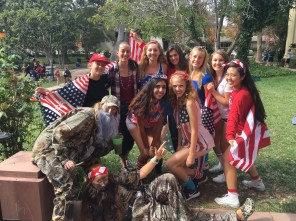 Seniors show off their pride for both America and Duck Dynasty.
