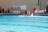 Senior boy Lars Atkinson swims to victory.