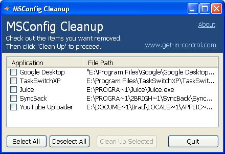 MSConfig Cleanup