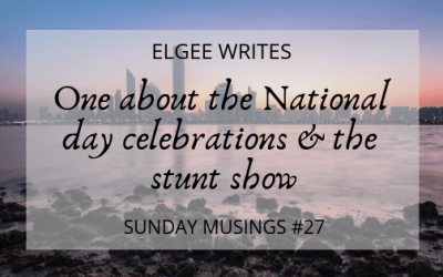 Sunday Musings #27: One about the National day celebrations & the stunt show