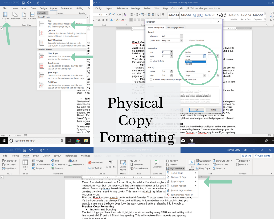formatting your book