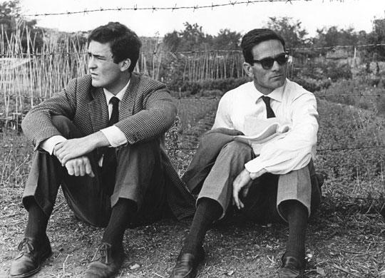 Bernardo Bertolucci y P.P.Pasolini