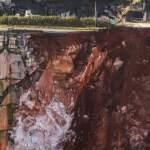 Derrumbe de la vía que une las localidades de Borba  y Vila Viçosa.