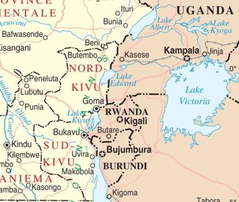 Mapa de Kivu Norte